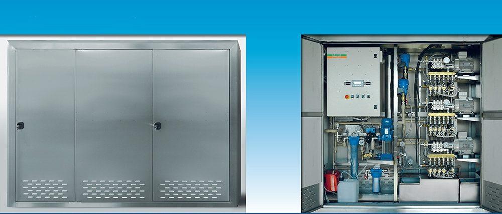 echipamente si panou de control pentru spalatorie self service cu trei piste