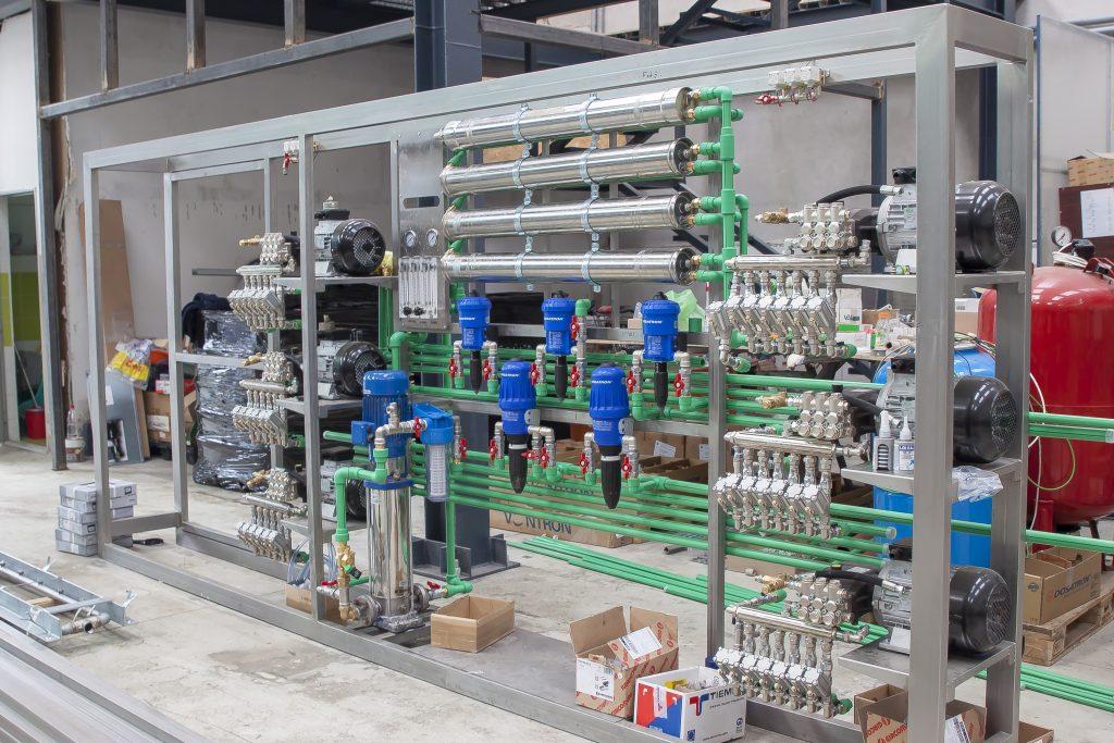 instalatie profesionala pentru spalatorie 6 rampe spalare
