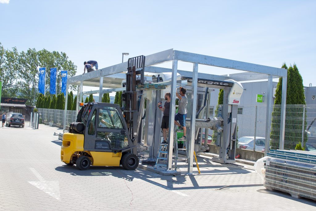 montaj structura si spalatorie automata cu perii 2